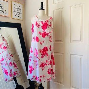 Mary McFadden White Floral Print Dress Size 12